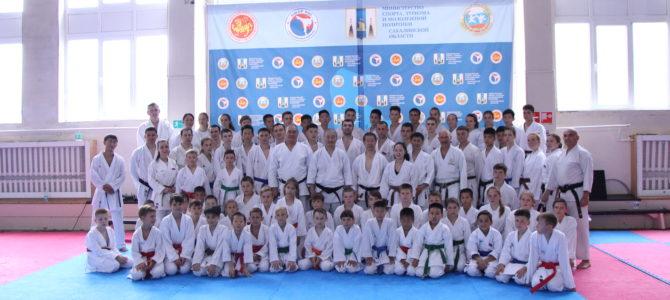 В Южно-Сахалинске завершился первый день международного семинара по каратэ
