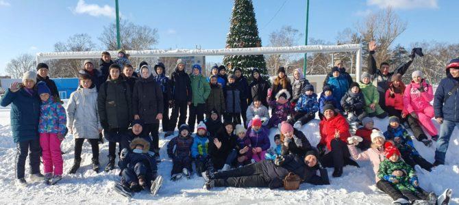 Сахалинские каратисты покатались на коньках