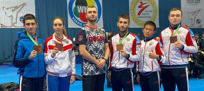 Спортсмены федерации каратэ завоевали четыре бронзовые медали на первенстве Европы в Венгрии