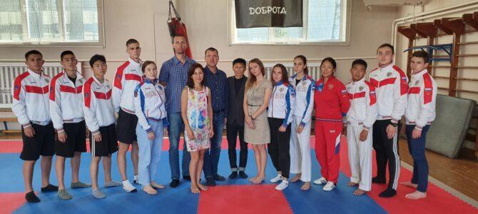 Воспитанники федерации каратэ Сахалинской области встретились с представителями ЦСП