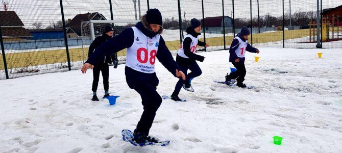 Виктор Горбенко победитель соревнований по скоростному бегу на снегоступах